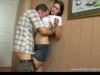 FirstAnalQuest.com -HARD Donk FUCK OF A Arched OVER Gigantic Mounds Dark haired TEEN Superslut