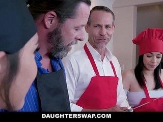 DaughterSwap - Teens Get Dicked Down By Hot Daddies