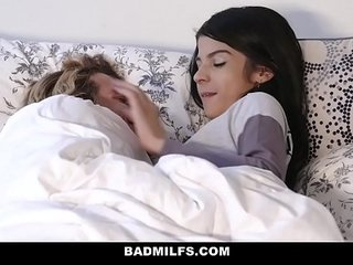 BadMILFS - Sheena Ryder Shares Stepsons Chisel with Smallish Teen