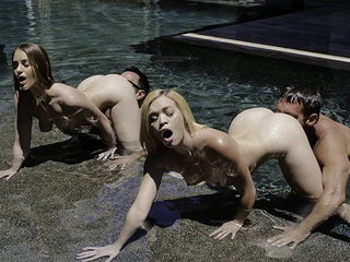 DaughterSwap - Beautiful Daughters Deep-throat Daddy Man-meat Underwater