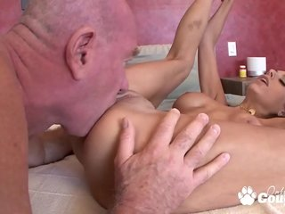 Sex-positive Nubile Trinity St Clair Lets Step Dad Jizz On Her Sexy Melons