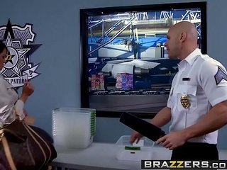 Brazzers - Baby Got Udders -  Airport Secur-Titty scene starring Savannah Stern and Johnny Sins