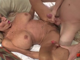 youthful stud jams his youthful cock to mature Cougar  Sally D'angelo